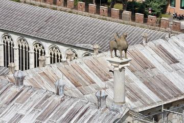Pisa Camposanto cemetery roof