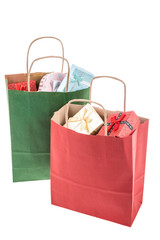 gifts in shopping bags