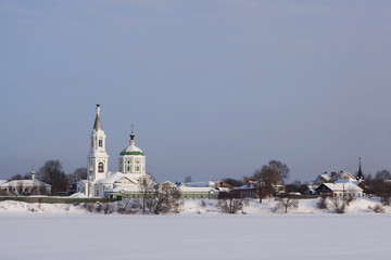 Russian winter and the church in Tver