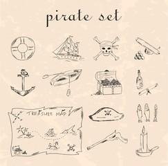 Black pirate set