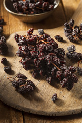 Organic Dry Raisins on the Vine