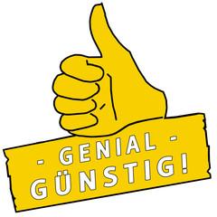 tus150 ThumbUpSign tus-v24 - Genial Günstig - gelb g2250