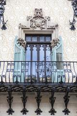 Facade of the Modernist Casa Amatller in Barcelona, Spain
