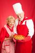 Senior Couple Bakes Together