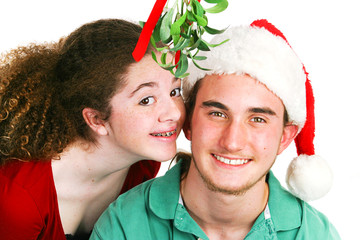 Christmas Mistletoe Kiss - Teens