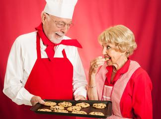 Tasting Cookies at Bakery