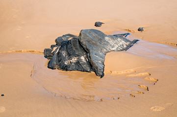 Slate on Portuguese beach