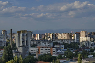 View to part of Sofia city from above