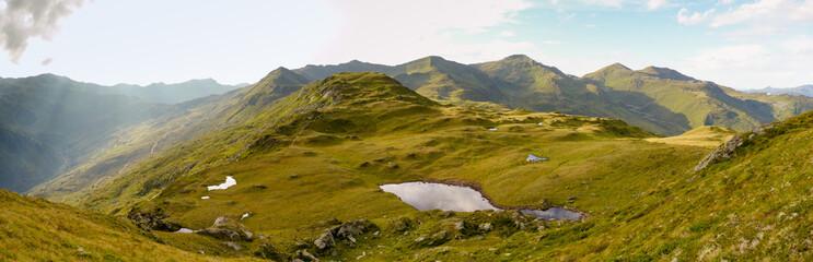 Panorama der Alpen