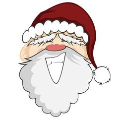 Santa Faces - Santa Claus with a big smile