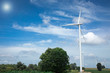 Wind Turbine Farm with Sunlight