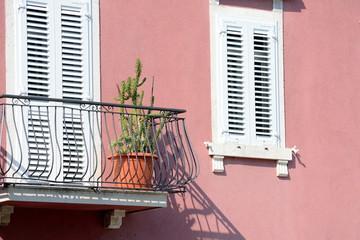 Hausansicht in Südeuropa