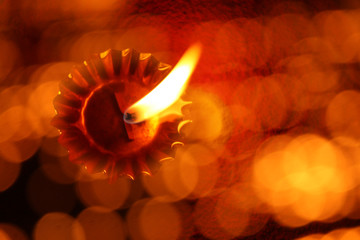 Abstract Diwali Lamp