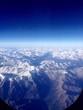 canvas print picture - Alpen aus einem Flugzeugfenster