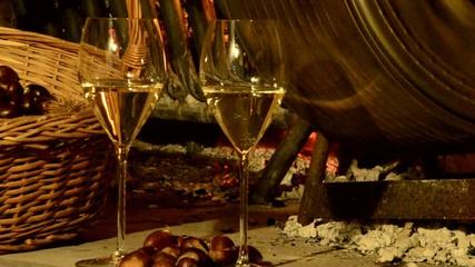 Vino Ribolla and castañas Autumn cuisine Expo Milano 2015