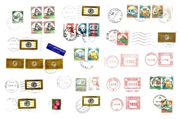 Bunch of italian post stamp