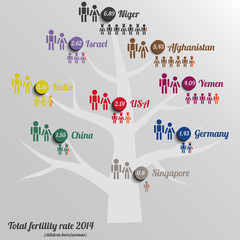 Infographic of Total tree fertility rate