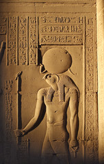 Horus was a god of the sky. Kom Ombo temple, Egypt