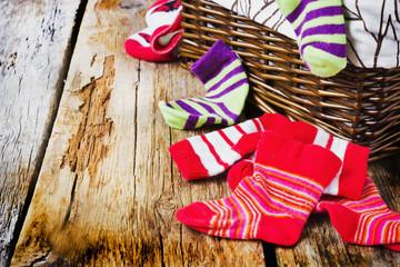 scattered children's striped socks