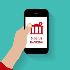 Mobile Bank Concept Vector Illustration