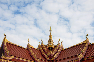 Gable apex on the roof of Public Laos Temple