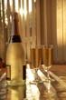 Champagne in glasses.