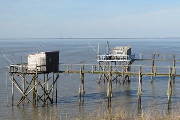 Charente-Maritime - Marsilly - Carrelets pour la pêche