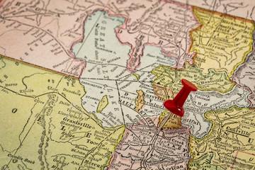 Sallt Lake City on vintage map