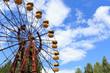 Leinwanddruck Bild - Abandoned Ferris Wheel in Chernobyl