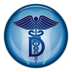 Dentist Medical Symbol Button