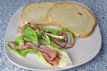 Elegant deli black forest ham sandwich wraps