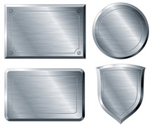 Brushed metal shapes