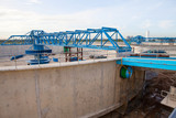 waterworks production tank in construction at water suppies indu