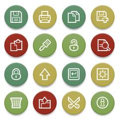 Document contour icons on color buttons.