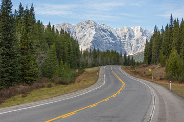 Highway 40 in Kananaskis Country, Alberta
