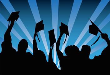 Graduation celebration background