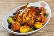 Whole Roasted Holiday Chicken With Potatoes and Apples