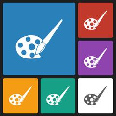 palette & paint brush icon