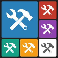 hammer wrench icon
