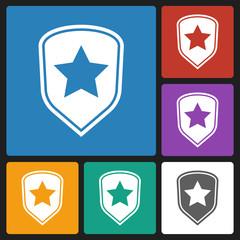 shield star icon