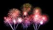 Leinwandbild Motiv fireworks over sky