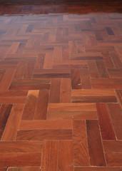 parquet wood of floor design in house