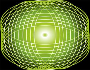 Seamless line circle green background