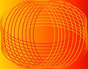 Seamless line circle orange background
