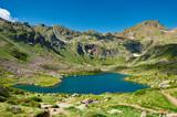 Fototapety Estany del Mig. Tristaina Lakes (Estanis de Tristaina). Andorra