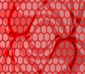 Abstract vector illustration wave hexagon pattern
