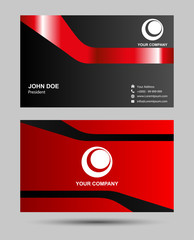 Red and black business card
