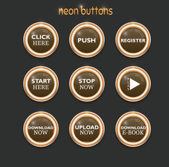 neon dowload buttons