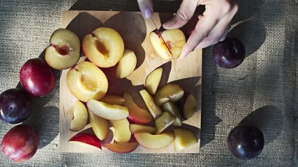 Slicing Plum, Slow Motion