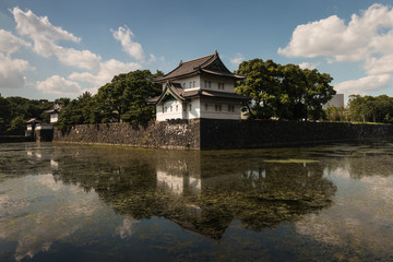 guard tower of Imperial Palace in Tokyo